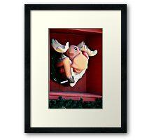 Funny Moose Framed Print