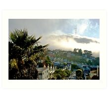 Fog over Twin Peaks Art Print