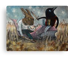 When Rabbit Meets Crow Canvas Print