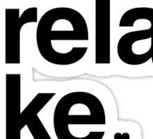 Lorelai & Luke - black text Sticker