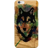 Watercolor Wolf iPhone Case/Skin