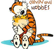 Calvin and hobbes Love And Hugs by JackCustomArt