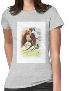 Portraiture of Horse Womens Fitted T-Shirt