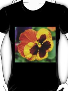 Amber and Gold Pansy Close-up T-Shirt