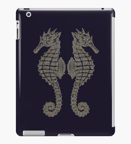 Vintage Tribal Sea Horses iPad Case/Skin