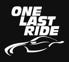 one last ride v2 tribute paul walker T-Shirt