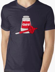Nerd Paste Mens V-Neck T-Shirt