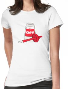 Nerd Paste Womens Fitted T-Shirt