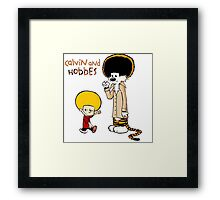Calvin And Hobbes Duo Afro Framed Print