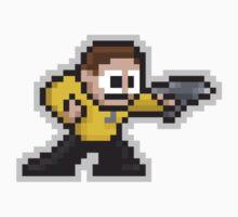 8-Bit Starfleet Capt Kids Clothes