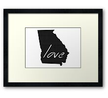 Love Georgia Framed Print