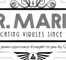 Dr. Mario - Art Deco Black Sticker