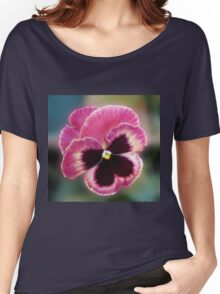 Cute Little Pansy Face Women's Relaxed Fit T-Shirt