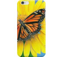 Butterfly on Sunflower iPhone Case/Skin
