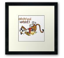 calvin and hobbes laugh moment Framed Print