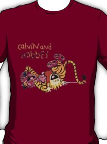 calvin and hobbes laugh moment T-Shirt