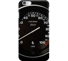 1995 Ferrari F355 Spider - Blood Pressure - RPM Gauge iPhone Case/Skin