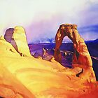"""Delicate Arch"" Watercolor by Paul Jackson"
