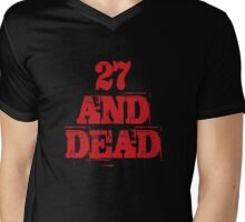 27 AND DEAD Mens V-Neck T-Shirt