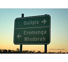 QUILPIE SIGN BULLETED © Photographic Print