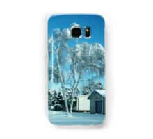 BEAUTIFUL WINTER SCENE...WITH BIRCH COVERED TREE PICTURES - PILLOWS - TOTE BAGS ECT Samsung Galaxy Case/Skin