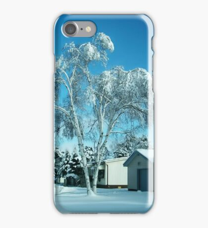 BEAUTIFUL WINTER SCENE...WITH BIRCH COVERED TREE PICTURES - PILLOWS - TOTE BAGS ECT iPhone Case/Skin
