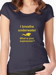 I breathe underwater Women's Fitted Scoop T-Shirt