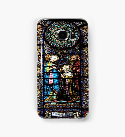 Santa Maria de Montserrat Abbey, Catalonia, Spain Stained Glass window  Samsung Galaxy Case/Skin