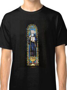 Santa Maria de Montserrat Abbey, Catalonia, Spain Stained Glass window  Classic T-Shirt