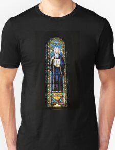 Santa Maria de Montserrat Abbey, Catalonia, Spain Stained Glass window  Unisex T-Shirt
