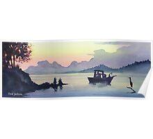 """Tillamook Bend"" Watercolor Poster"