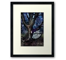 Fairy and The Wizards Tree Framed Print