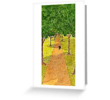Dog Underneath the Shadow of Trees Greeting Card