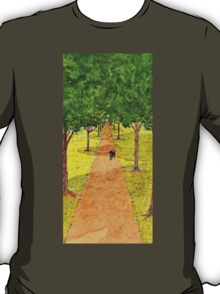 Dog Underneath the Shadow of Trees T-Shirt