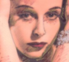 PORTRAIT OF HEDY LAMARR Sticker