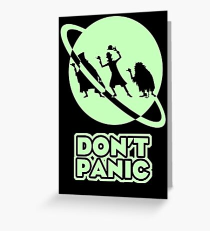 Hitchhiker's Guide to the Haunted Mansion Greeting Card