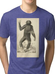 The Animal Kingdom by Georges Cuvier, PA Latreille, and Henry McMurtrie 1834 601 - Mammalia Mammals Tri-blend T-Shirt