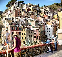 Pittura Riomaggiore I by Eyal Geiger