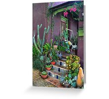 Purple Adobe Greeting Card