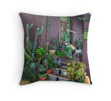 Purple Adobe Throw Pillow
