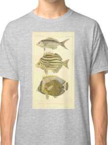 The Animal Kingdom by Georges Cuvier, PA Latreille, and Henry McMurtrie 1834 209 - Pisces Fish Classic T-Shirt