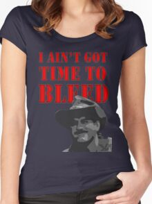 I Ain't Got Time to Bleed Women's Fitted Scoop T-Shirt