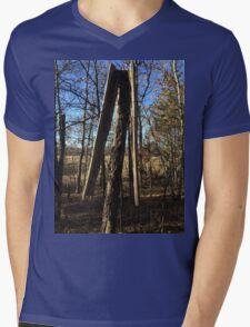 Lightening Struck Tree Mens V-Neck T-Shirt