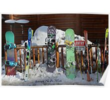 Resting Snow Boards Poster
