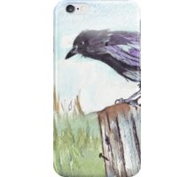 Coco on the fencepost iPhone Case/Skin