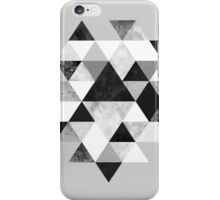 Graphic 202 Black and White iPhone Case/Skin