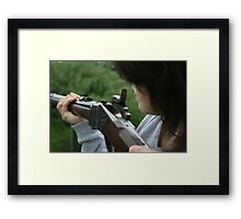 Aiming Framed Print