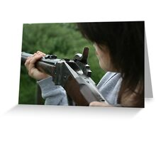 Aiming Greeting Card