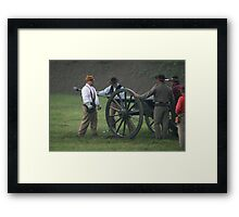 Loading the cannon II Framed Print