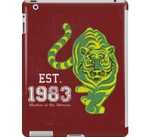 (FOR LIGHT COLORED SHIRTS & Stickers) MOTU Battle Cat He-man Cringer 1983 Tiger Green Yellow Stripes Cartoon Action Figure 80s Baby BEST FOR LARGE POUCHES iPad Case/Skin